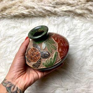 Tiki Turtle Tribal Small Vase Home Decor